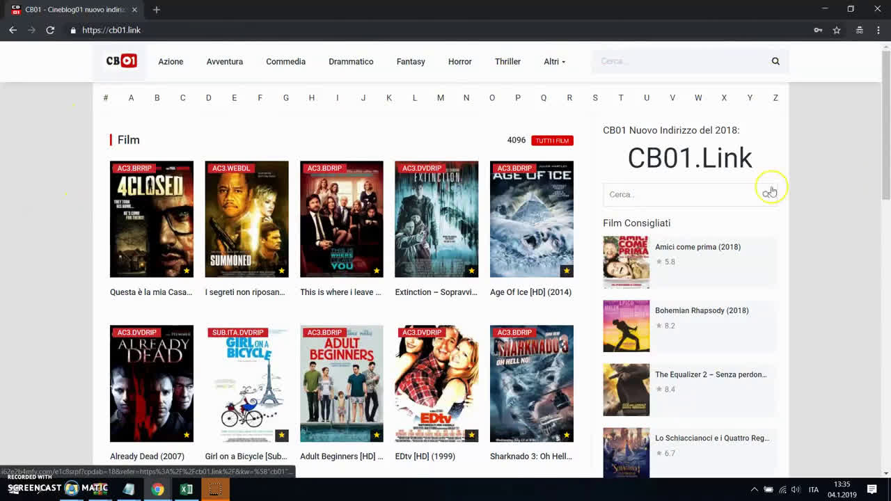 Film Streaming nel 2019, Lista Siti