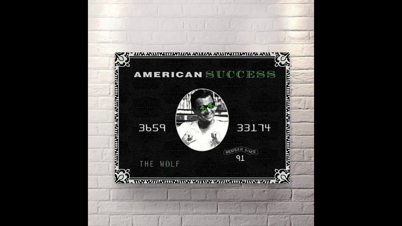 Canvas Wall Art motivational pop art American Success