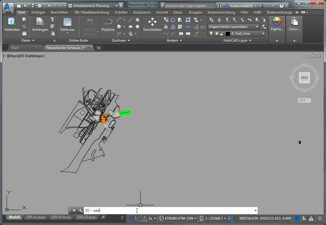 Transformation mit GNTRANS in AutoCAD Map 3D