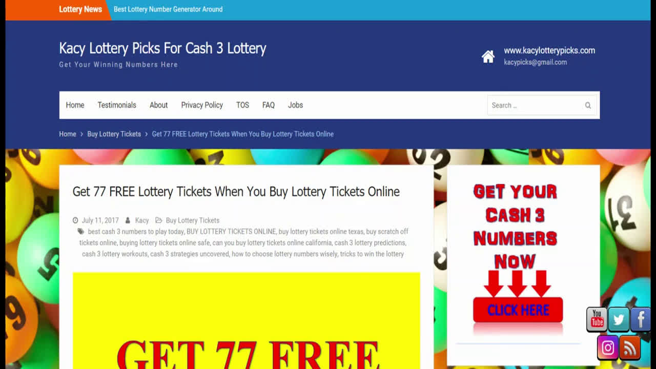 $290 WON CASH 3 LOTTERY PICKS PREDICTIONS & STRATEGIES GET YOUR NUMBERS NOW