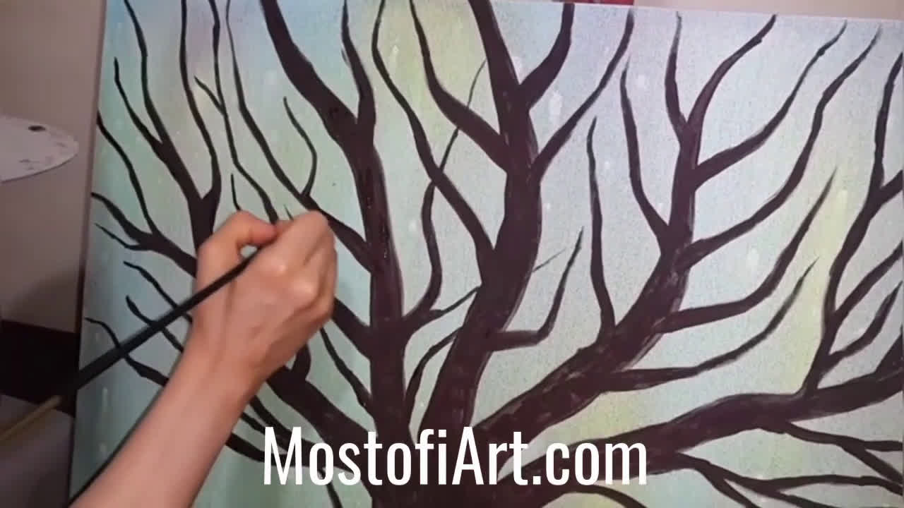 MostofiArt.com Artist Armineh Asoubar Painting on Canvas