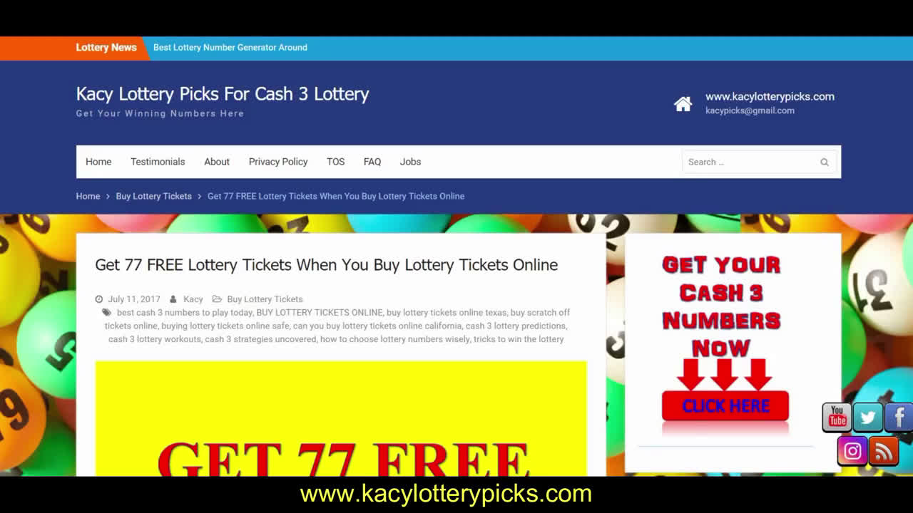 CASH 3 LOTTERY PREDICTIONS FOR OCTOBER 2018