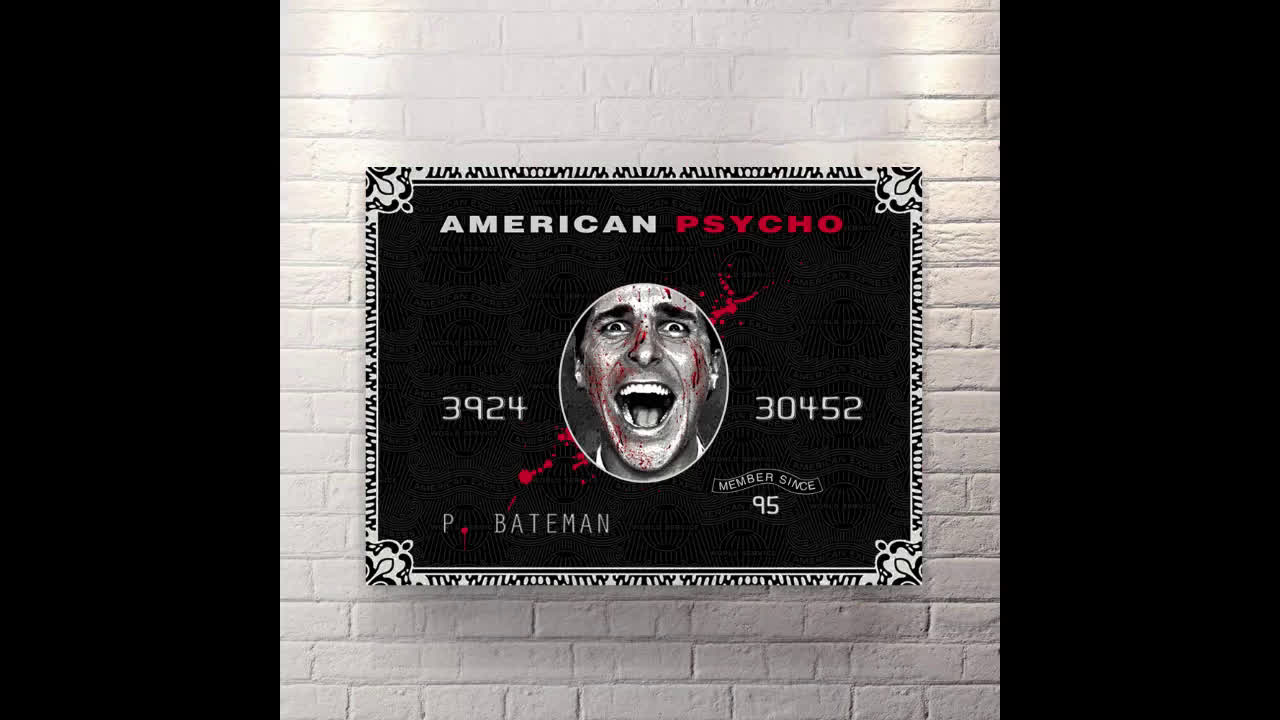 Canvas Wall Art moviesl pop art American Psycho