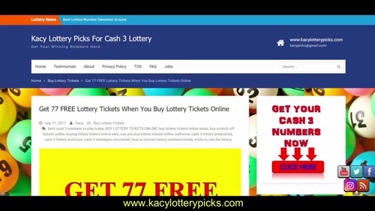 CASH 3 LOTTERY PREDICTIONS OCTOBER 2019 LOTTERY PREDICTOR