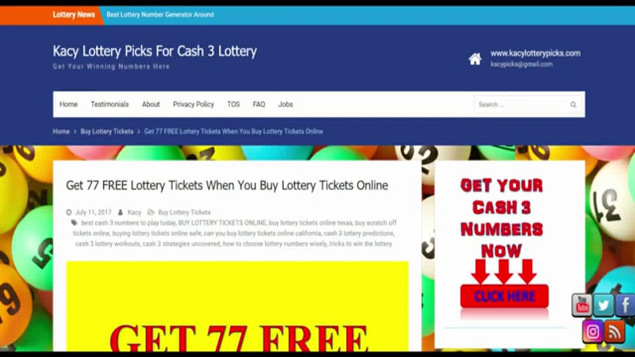 CASH 3 LOTTERY PREDICTIONS JANUARY 2020 LOTTERY PREDICTOR