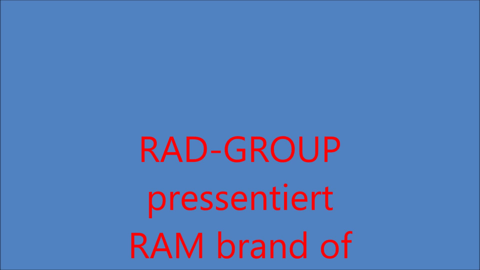 Kurzfilm RAM brand of RAD-GROUP
