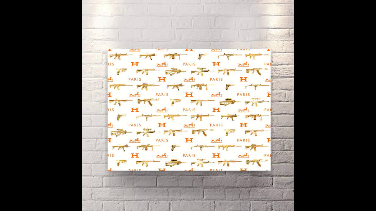 Gun Wallpaper - Canvas Wall Art