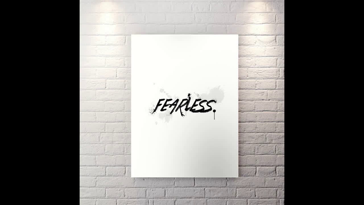 Fearless - Motivational Canvas Wall Art