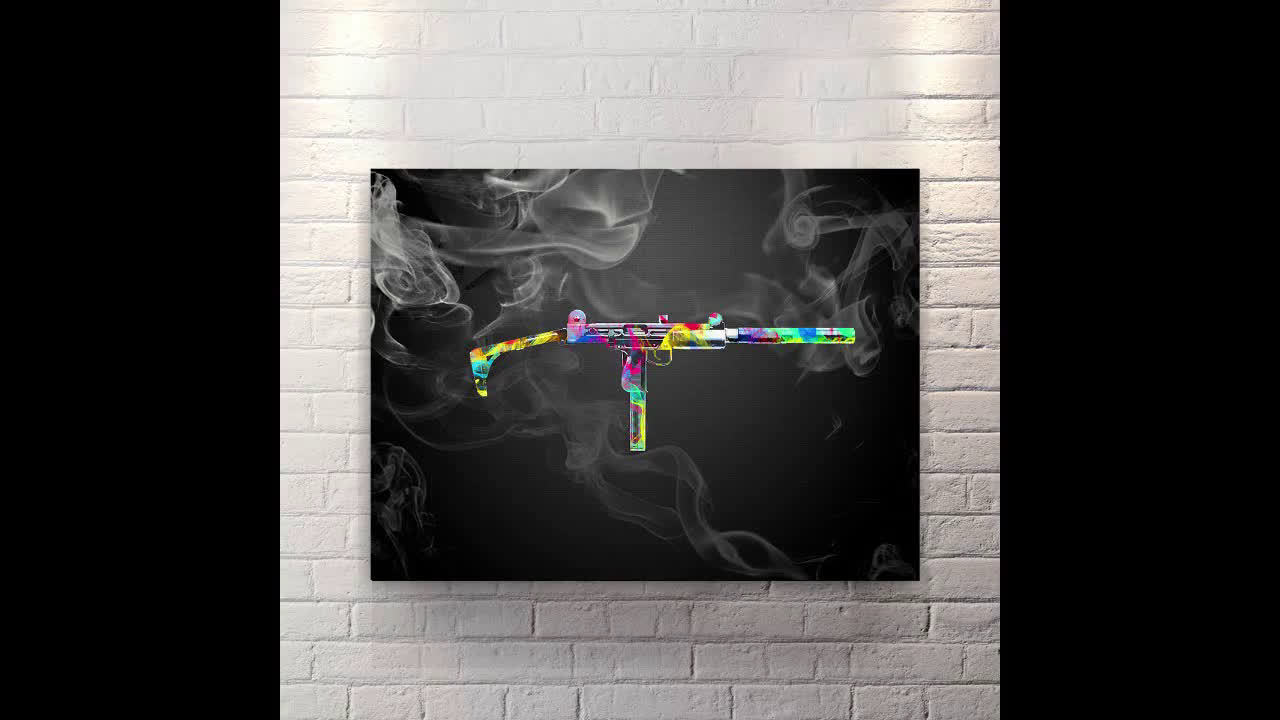 Extended Clip - Canvas Wall Art Black