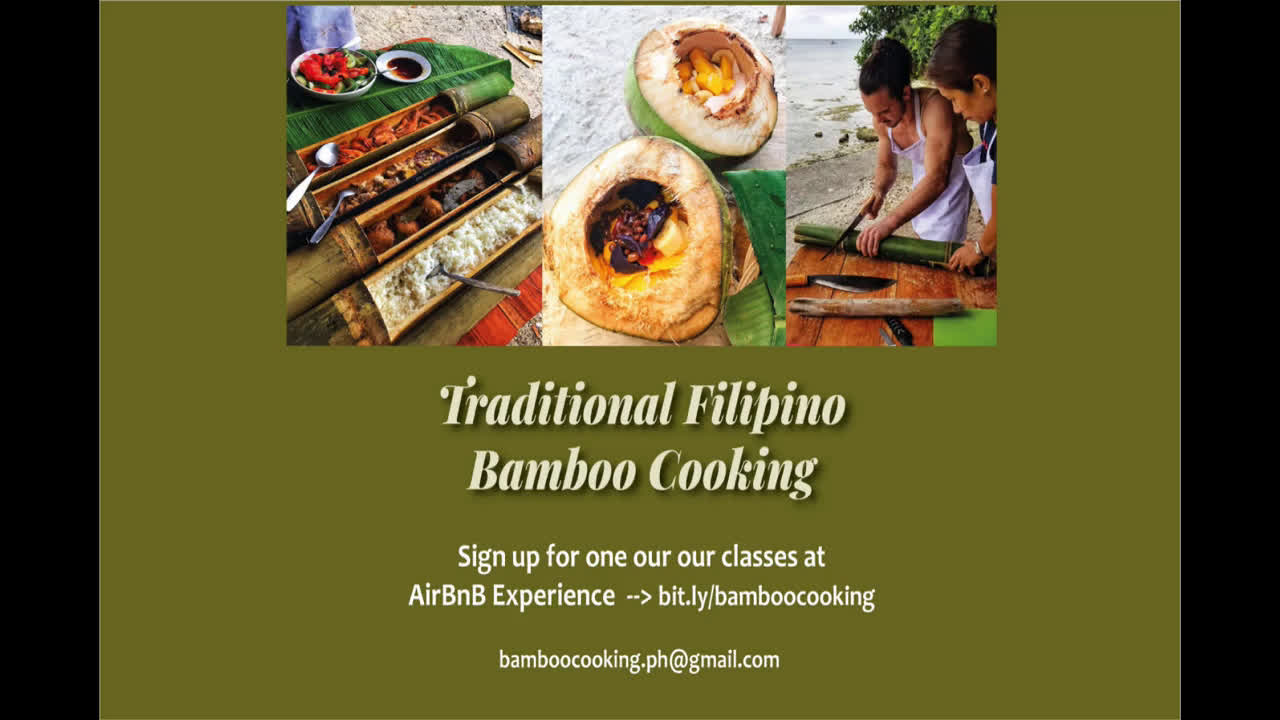 Traditional Filipino Bamboo Cooking in Moalboal Cebu