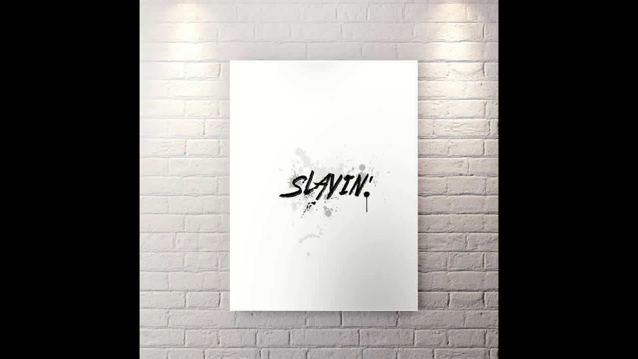 Slayin' - Motivational Canvas Wall Art