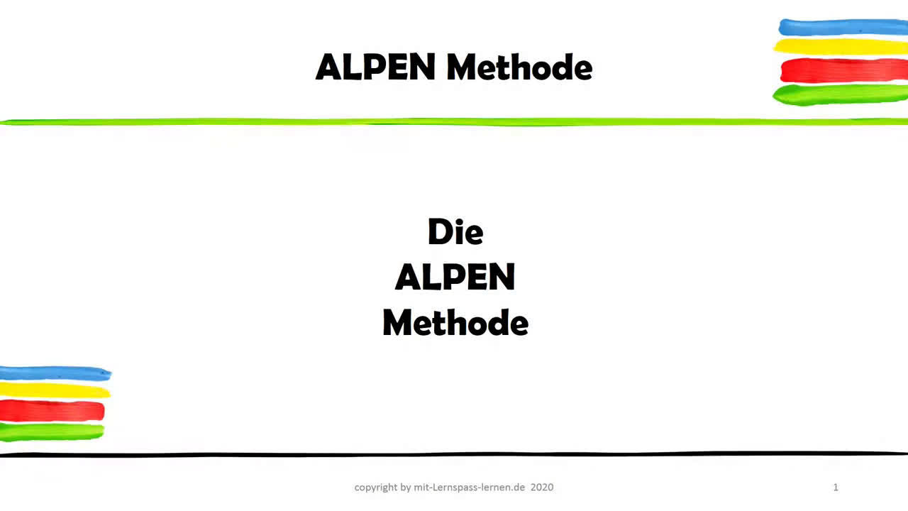 Die ALPEN Methode