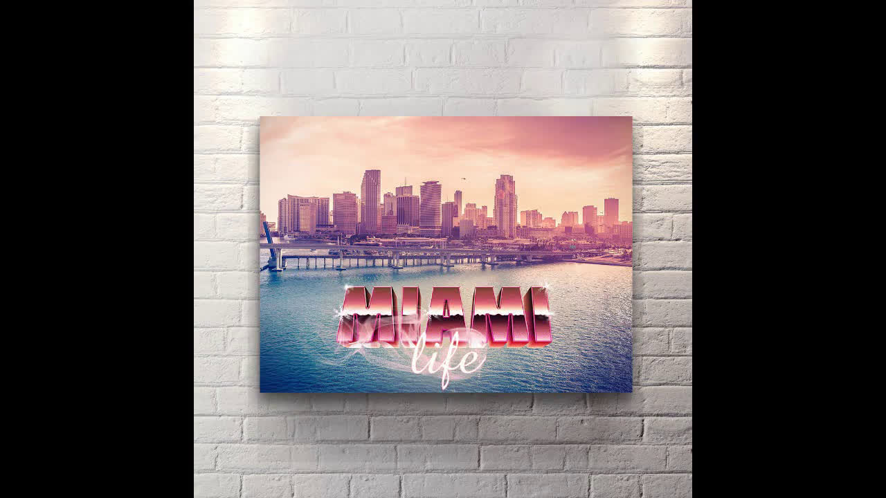 Miami Life - Canvas Wall Art