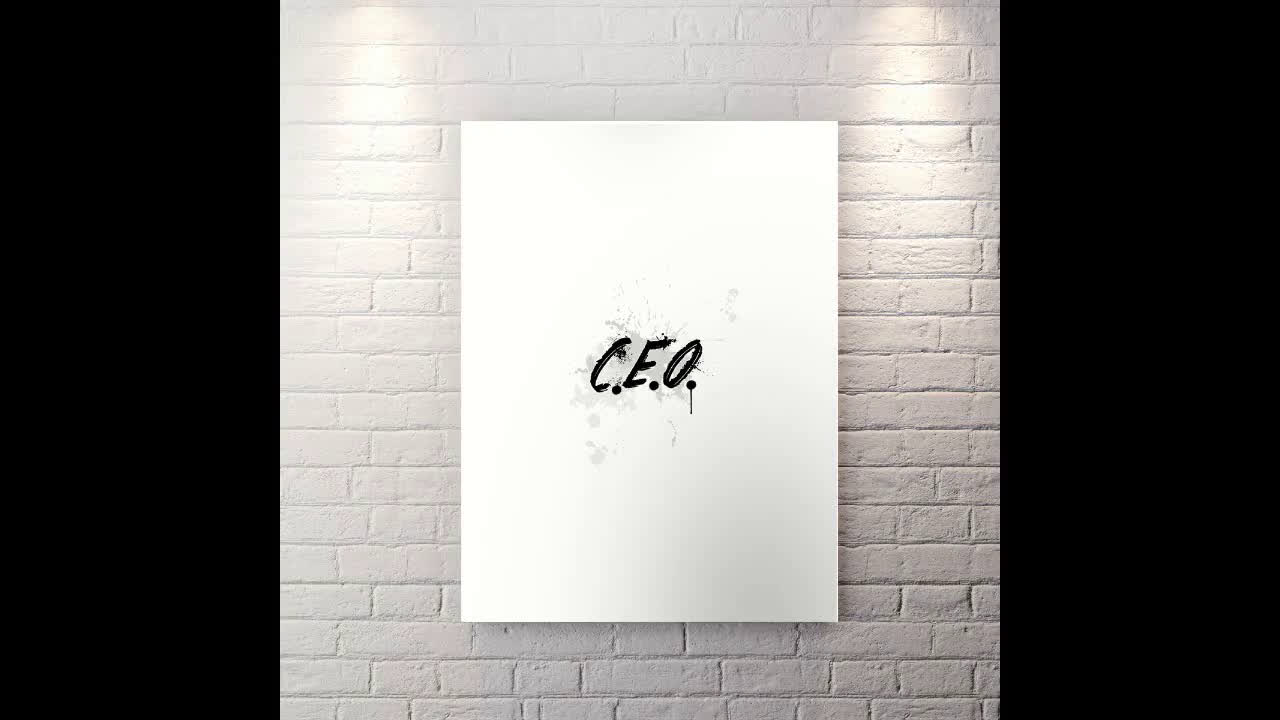 CEO - Motivational Canvas Wall Art