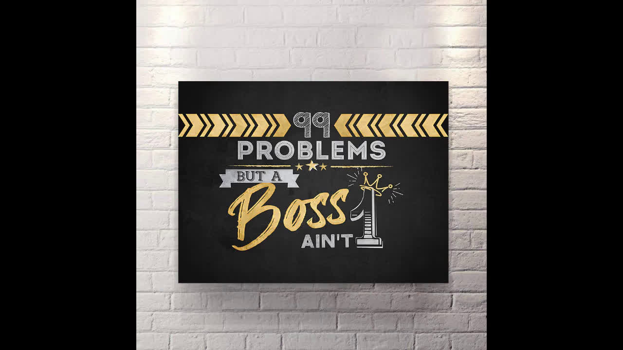 Canvas Wall Art motivational pop art 99 problems