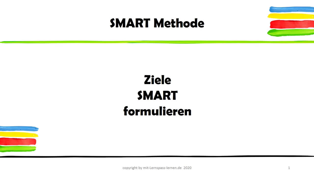 SMARTe Ziele - Die SMART Methode