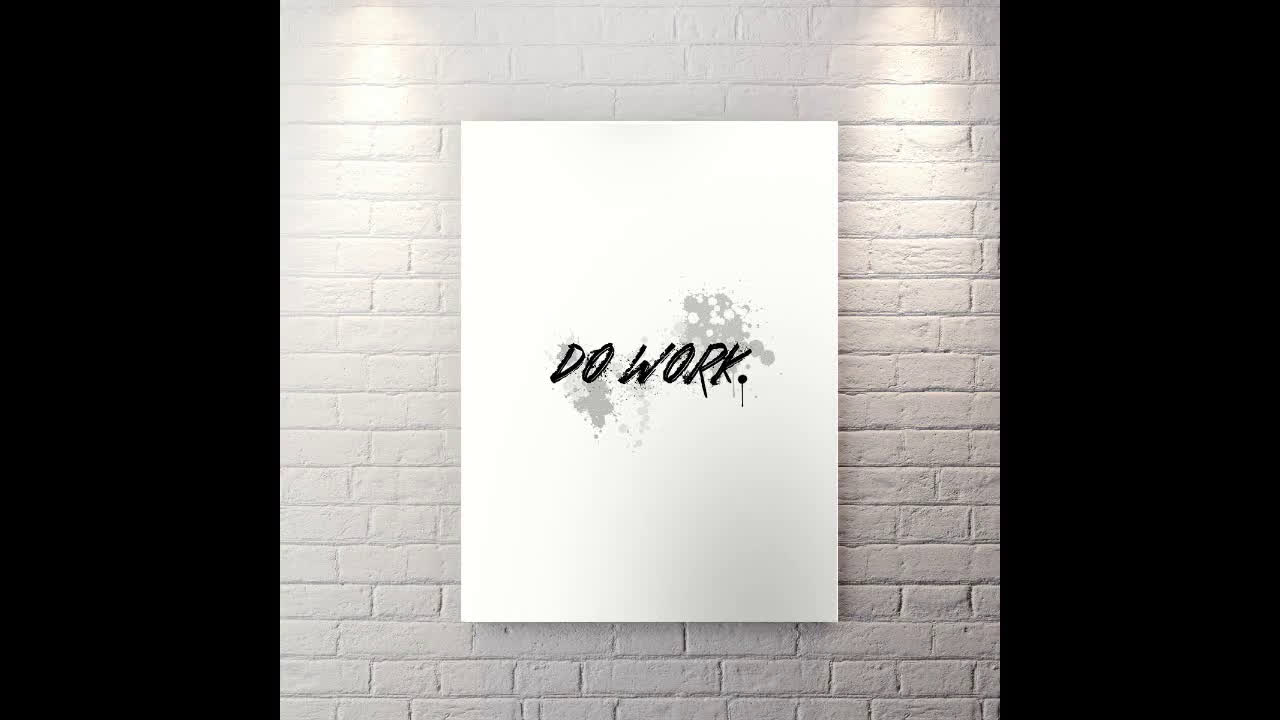 Do Work - Motivational Canvas Wall Art