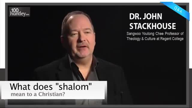 What is the meaning of shalom