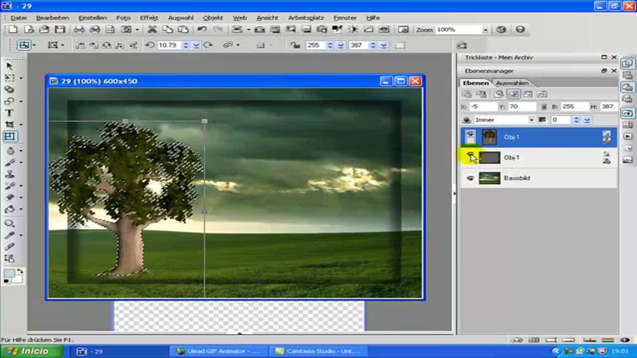 PhotoImpact Tutorial Animierte Vögle im Bild