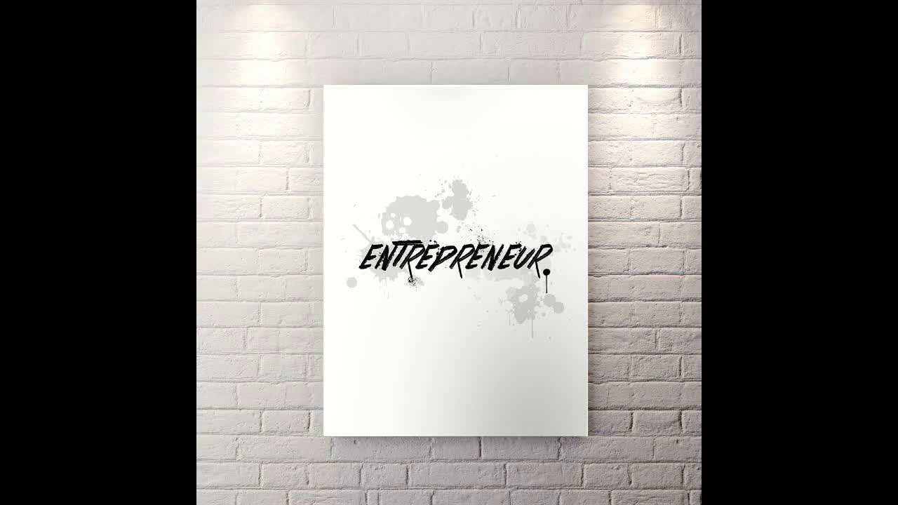 Entrepreneur - Motivational Canvas Wall Art