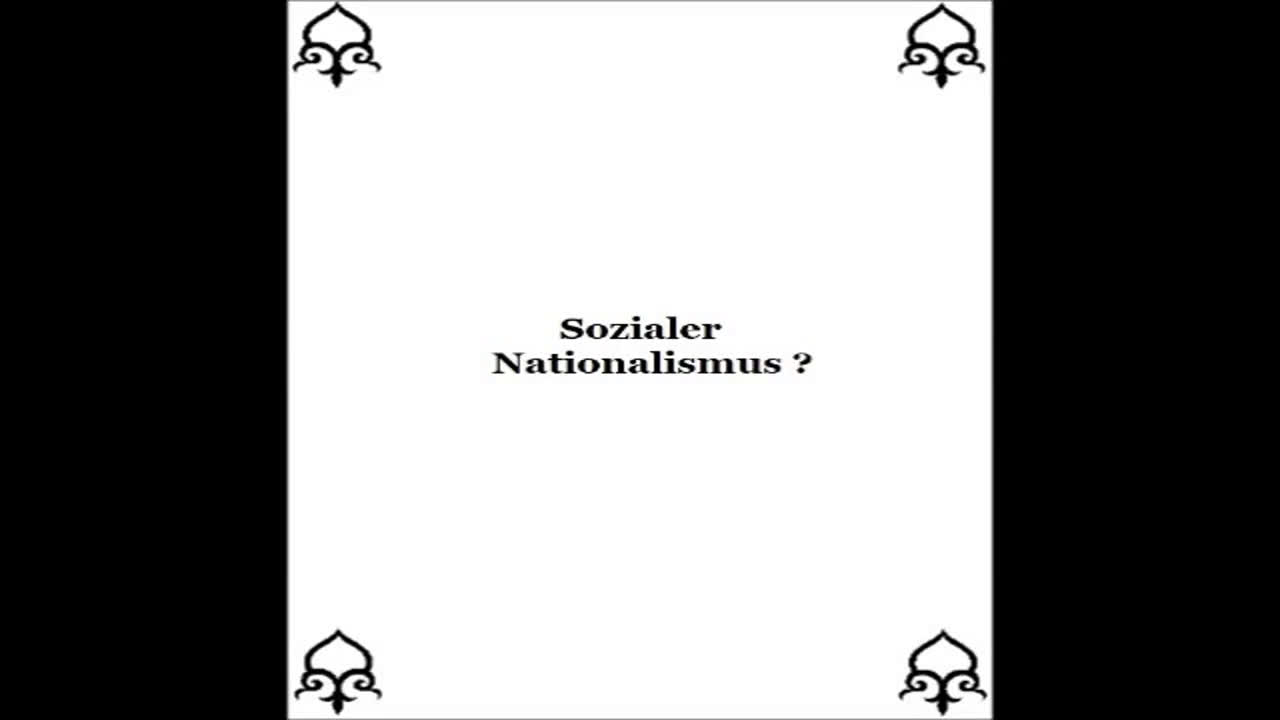 Sozialer Nationalismus ?