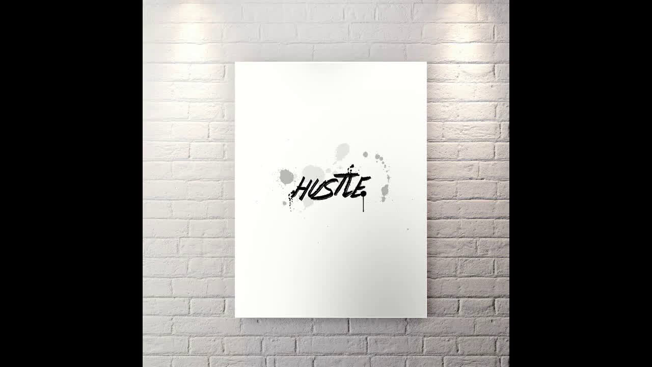 Hustle - Motivational Canvas Wall Art
