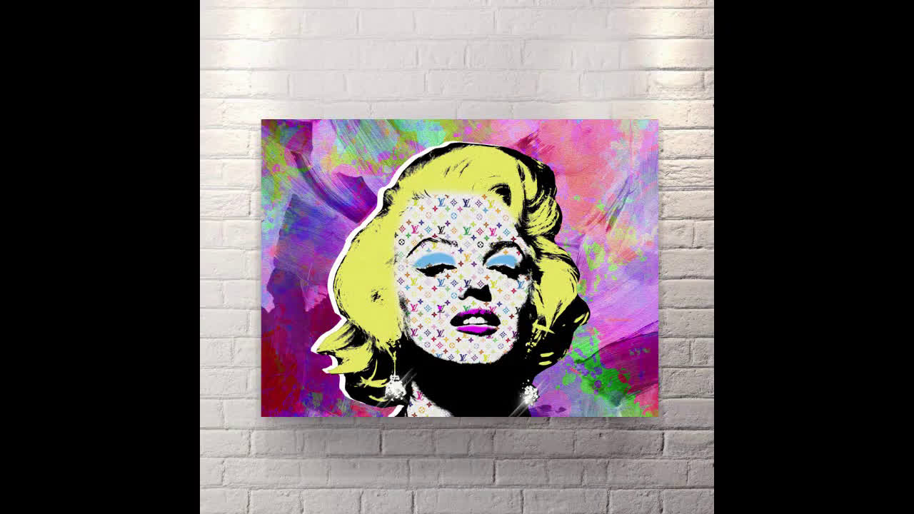 Marlyn Vuitton - Canvas Wall Art