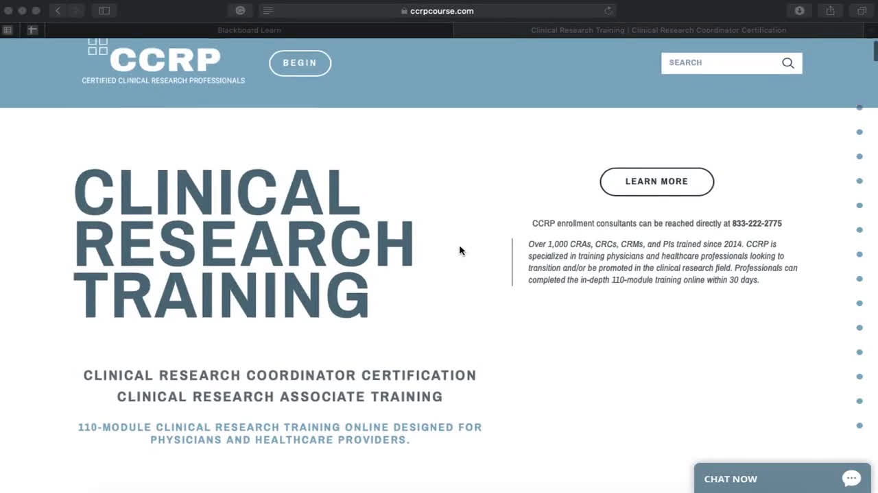 Clinical Research Certification by CCRP Course