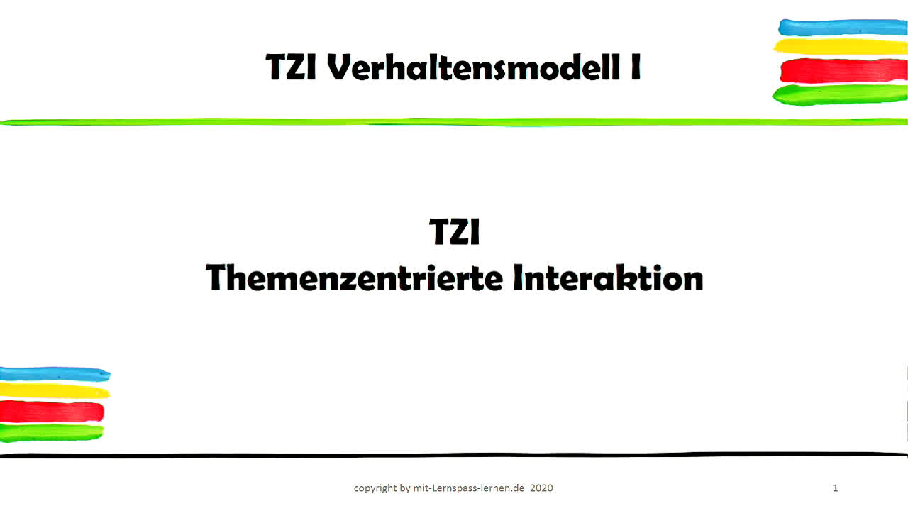 TZI Themenzentrierte Interaktion Teil I
