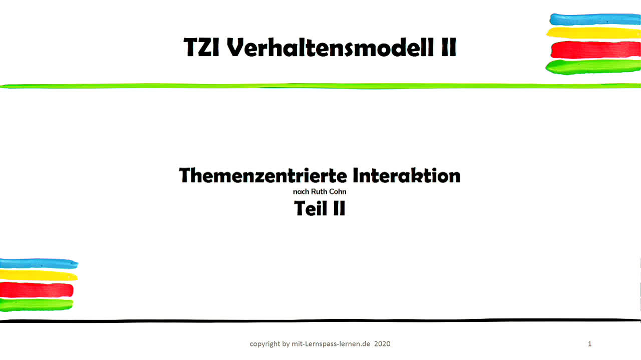 TZI Themenzentrierte Interaktion Teil II
