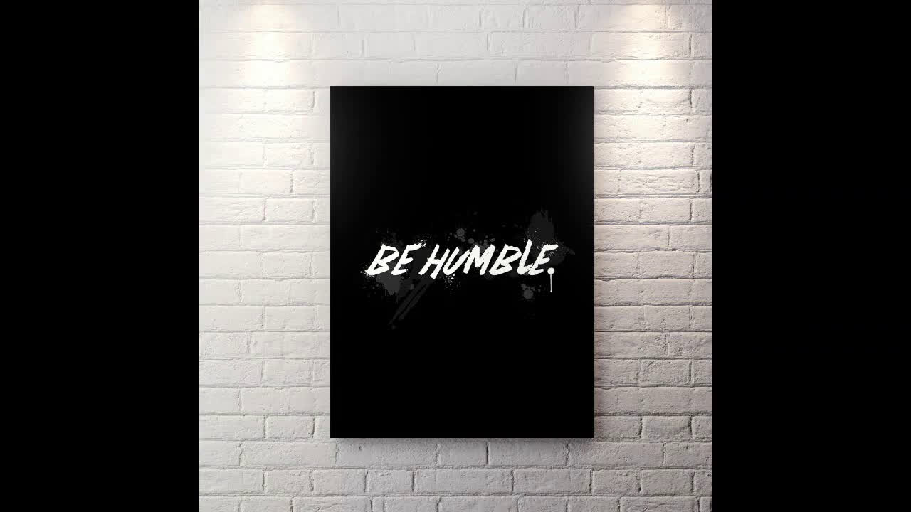Canvas Wall Art motivational pop art Be Humble