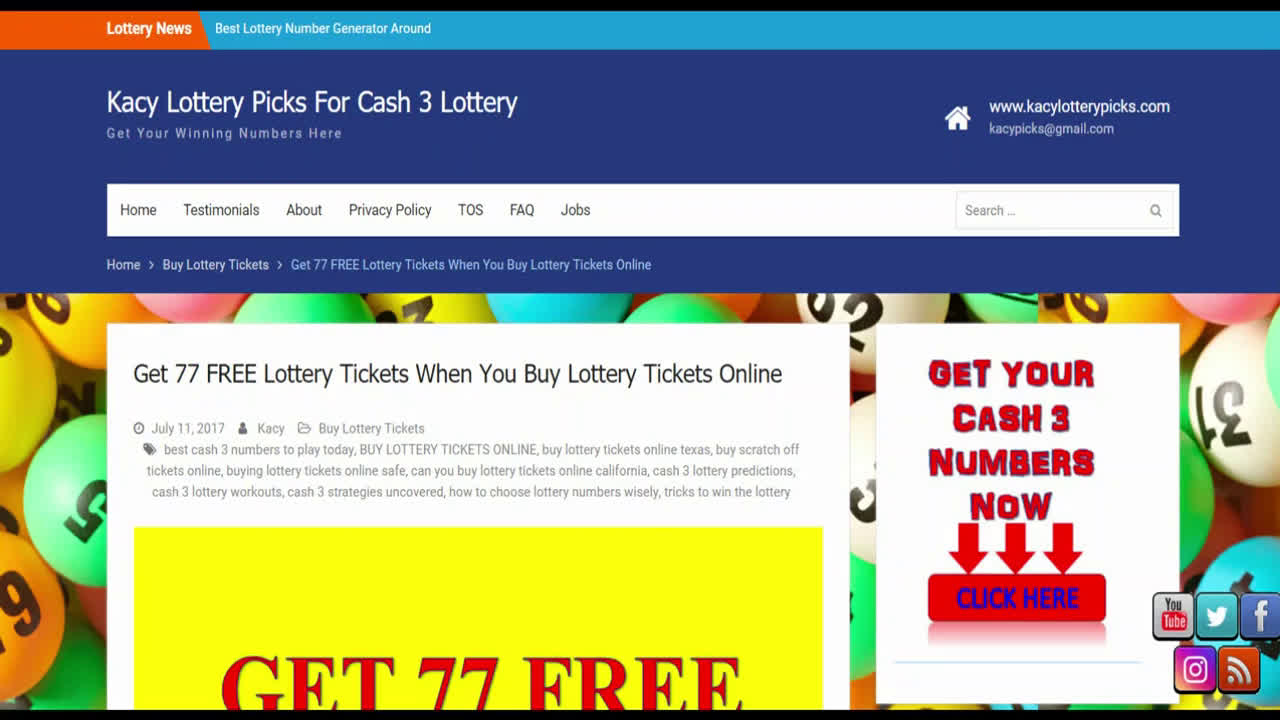CASH 3 LOTTERY PREDICTIONS NOVEMBER 2020 LOTTERY PREDICTOR