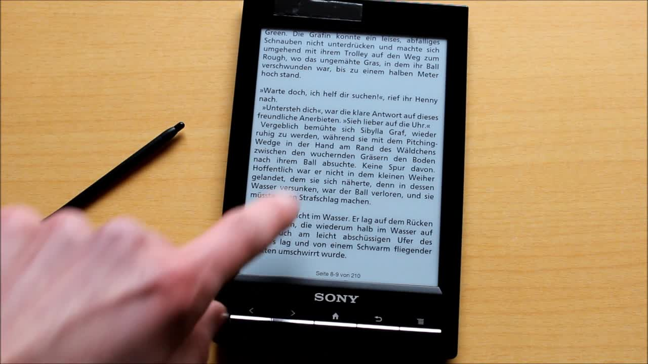 Test: eBook Reader Sony PRS-T1