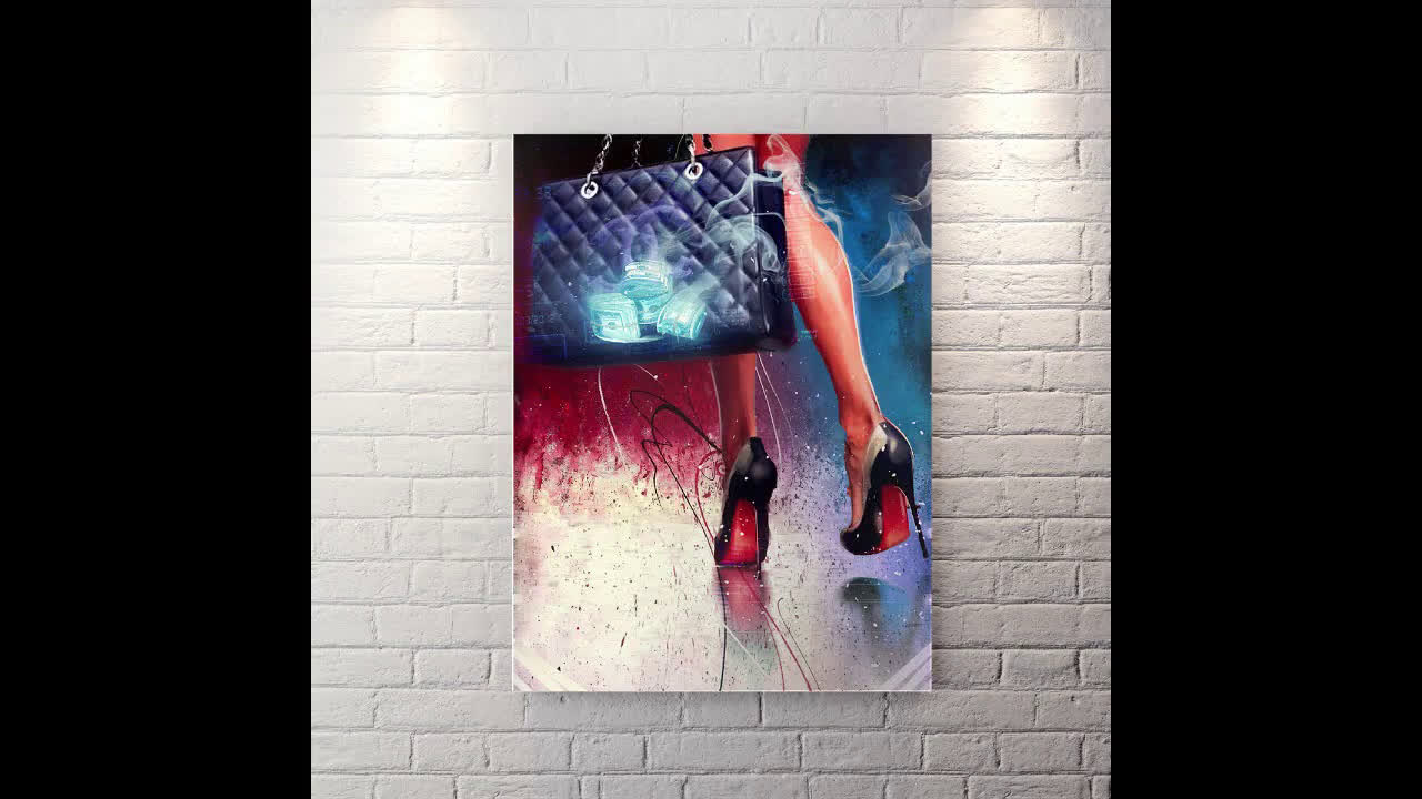Stepping Out Like a Boss - Canvas Wall Art