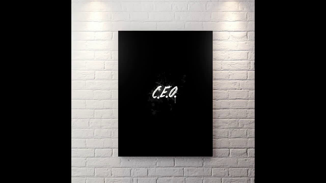 Canvas Wall Art motivational Entrepreneur pop art CEO