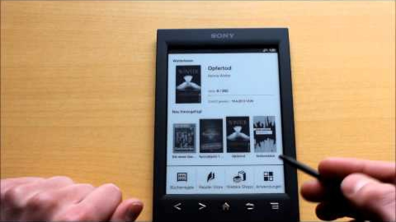 Test: eBook Reader Sony PRS-T2